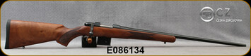 "CZ - 6.5Grendel - Model 527 American - Bolt Action Rifle - American Style Turkish Walnut Stock/Blued, 24"" Barrel, 5 Round Detachable Magazine, No Sights Integrated 16mm Scope Base, Mfg# 5274-0857-MFAKAB5, S/N E086134"
