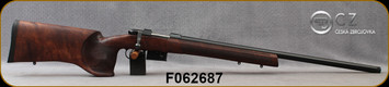 "CZ - 223Rem - Model 527 Varmint MTR - Bolt Action Rifle - Turkish Walnut Varmint Stock/Blued Finish, 25.6""Barrel, 5 Round Detachable Box Magazine, No Sights, Mfg# 5274-6466-TFAKAA5, S/N F062687"