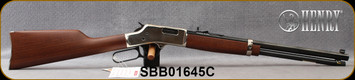 """Henry - 45LC - Big Boy - Lever Action Rifle - American Walnut Stock/Polished Hardened Brass Receiver/Blued, 20"""" Octagon Barrel, 10 Round Capacity, Mfg# H006C, S/N SBB01645C"""