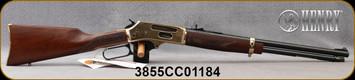 "Henry - 38-55 - Side Gate - Cowboy Carbine Lever Action - American Walnut Stock/Brass Receiver/Blued, 20"" Barrel - 5rd - Mfg# H024-3855, S/N 3855CC01184"