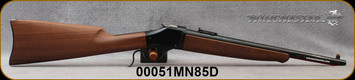 """Winchester - 45-70Govt - Model 1885 High Wall Trapper Limited Series - Lever Action - Satin-Finish Walnut Stock/Blued, 16.5""""Barrel, Ladder Style Adjustable Rear Sight, Mfg# 534146142, S/N 00051MN85D"""