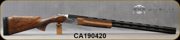 "Huglu - 12Ga/2.75""/32"" - Model HT-14 - Grade 3 Select Turkish Walnut Adjustable Stock/Silver Receiver/Chrome-Lined Barrels, Ejectors, Vent Rib, Adjustable Trigger, 5pcs Mobile Choke, SKU# 8682109400015A, S/N CA190420"