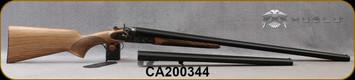 "Huglu - 12Ga/3""/30"" & 20"" - 201HRZ - Sidelock Hammer Gun - 2 Barrel Set - Double Trigger SxS - Grade AA Turkish Walnut Pistol Grip/Case Hardened/Chrome-Lined Barrels, 7pcs Mobil chokes, SKU: 86817153922402BP, S/N CA200344"