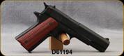 "Used - American Classic - Chiappa - 22LR - 1911 Classic - Semi-Auto Pistol - Checkered Walnut Grip/Black Finish, 5""Barrel, (2)10rd magazines, Mfg# AC22B - In original box, S/N D61194"