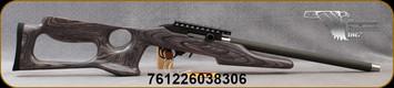 "Magnum Research - 22LR - Magnum Lite - Semi-Auto Rimfire Rifle - Black Pepper Finish Stock/Black Hard Coat Anodized Receiver/Graphite, 17"" Barrel, Integral Picatinny Rail, Hard Plastic Case, Mfg# MLR22BP"