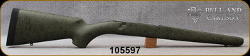 Bell and Carlson - Ruger M77 MKII and Hawkeye - Sporter Style - Long Action - Olive Green w/Black Spiderweb
