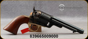 "Taylor's & Co - 38Spl - 1851 Navy C. Mason Revolver - Walnut Grips/Case Hardened Frame/Brass Trigger Guard & Backstrap/Engraved Cylinder/Blued Finish, 5.5""Barrel, Brass Post Front Sight, Mfg# 0926"