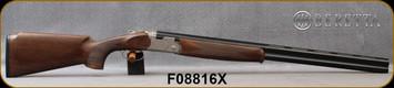 """Beretta - 12Ga/3""""/28"""" - Silver Pigeon I Vittoria Field - Walnut Stock w/Schnabel forend/Engraved Nickle Finish Receiver/Steelium Optima HP Barrels, Vent Rib, Mfg# 3W46PL22AA311, S/N F08816X"""