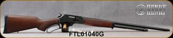"Henry - 410Ga/2.5""/24"" - Side Loading Gate - Lever Action Shotgun - American Walnut Stock Blued Finish, 24""Round Barrel, 5 Round Capacity, Mfg# H018G-410, S/N FTL01040G"
