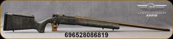 "Christensen Arms - 300PRC - Mesa Long Range (MLR) - Bolt Action Rifle - Green w/Black & Tan Webbing Carbon Fiber Adjustable Long Range Stock/Bronze Cerakote Finish, 26""Barrel, 1:8""Twist, Mfg# 801-02017-00"