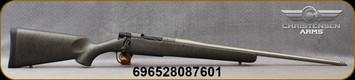 "Christensen Arms - 6.5Creedmoor - Mesa Titanium - Bolt Action Rifle - Metalic Grey W/Black Webbing Carbon Fiber Composite/Bead Blasted Stainless, 22""Threaded Barrel, Radial Muzzle Brake, Mfg# 801-01026-00"