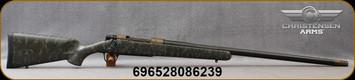 "Christensen Arms - 7mmRM - Ridgeline - Bolt Action Rifle - Green w/Black & Tan Webbing Carbon Fiber Composite Sporter Stock/Burnt Bronze/Carbon Fiber Wrapped, 26"" Threaded Barrel, 3 Round Capacity, Mfg# 801-06029-00"