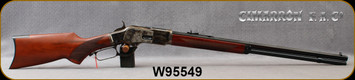 "Cimarron - Uberti - 44-40Win - 1873 Deluxe Sporting - Lever Action Rifle - Hand Checkered Pistol Gip Walnut Stock/Case Hardened Frame/Blued, 24""Octagonal Barrel, 12 Round Tubular Magazine, Mfg# CA275, S/N W95549"