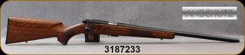 "Anschutz - 22LR - 1710 HB Walnut Classic - Oiled Walnut Straight-Comb Classic Stock/Blued, 23""Heavy Barrel, 5109 two-stage trigger, Mfg# 013297, S/N 3187233"