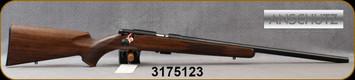 "Anschutz - 22LR - Model 1710 D HB Classic - Oiled Walnut Straight-Comb Classic Stock/Blued, 23""Heavy Barrel, Single Stage Trigger, Mfg# 000454, S/N 3175123"
