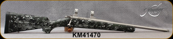 """Consign - Kimber - 7mm-08Rem - Adirondack - Optifade Forrest Kevlar/Carbon Fiber Stock/Stainless, 18""""Threaded Barrel, Mfg# 3000767, c/w 1""""Stainless Talley Rings - Only 40 rounds fired - In original box"""