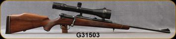 "Consign - Mauser - 7x64 - Model 66, Walnut Stock/Blued, 24""Barrel, Swarovski Habicht, 2.5-10x56mm, 4A reticle"