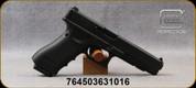 "Glock - 40S&W - Model G35 Gen 4 - Black Grips w/(2)Interchangeable Backstraps/Black Finish, 5.31""Barrel, (3)10round magazines, Adjustable Sights, Mfg# PG3530101"
