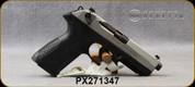"Beretta - 9mm - PX4 Storm Inox - Double/Single-Action Semi Auto - Black Frame/Matte Stainless Slide, 4.17""Barrel, (2)10rd magazine, (2) spare interchangeable backstraps, Mfg# JXF9F50C - Open Box Item, S/N PX271347"