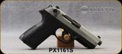 "Beretta - 9mm - PX4 Storm Inox - Double/Single-Action Semi Auto - Black Frame/Matte Stainless Slide, 4.17""Barrel, (2)10rd magazine, (1)spare interchangeable backstrap, speed loader, Mfg# JXF9F50C - Open Box Item, S/N PX1161S"