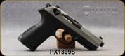 "Beretta - 9mm - PX4 Storm Inox - Double/Single-Action Semi Auto - Black Frame/Matte Stainless Slide, 4.17""Barrel, (1)10rd magazine, Mfg# JXF9F50C - Open Box Item, S/N PX1399S"