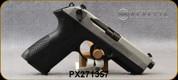 "Beretta - 9mm - PX4 Storm Inox - Double/Single-Action Semi Auto - Black Frame/Matte Stainless Slide, 4.17""Barrel, (1)10rd magazine, (2) spare interchangeable backstraps, Speed Loader, Mfg# JXF9F50C - Open Box Item, S/N PX271357"