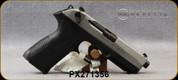 "Beretta - 9mm - PX4 Storm Inox - Double/Single-Action Semi Auto - Black Frame/Matte Stainless Slide, 4.17""Barrel, (2)10rd magazine, (1) spare interchangeable backstraps, Speed Loader, Mfg# JXF9F50C - Open Box Item, S/N PX271356"