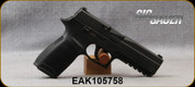 """Consign - Sig Sauer - 9mm - Model P250 - DA Semi-Auto - Black polymer-frame/Blued, 4.5""""Barrel, c/w Holster, (3)Magazines - less than 500 rounds fired"""