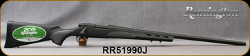 """Consign - Remington - 22-250Rem - Model 700 SPS Varmint - Bolt Action Rifle - Vented Black Synthetic Stock/Matte Blue Finish, 26"""" Barrel, 4rnd Capacity, Mfg# 84216 - Trigger adjusted to approx.2.5 lb - New, Unfired - In original box"""