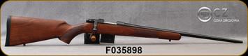 "CZ - 7.62x39 - Model 527 American - Bolt Action Rifle - American Style Turkish Walnut Stock/Blued, 21.875"" Barrel, 5 Round Detachable Magazine, No Sights-Integrated 16mm Scope Base, Mfg# 5274-7305-MFAKAB5, S/N F035898"
