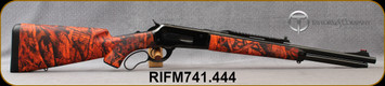"""Taylor's & Co - Pedersoli - 444Marlin - Model 1886 Boarbuster Red - Lever Action - American walnut stock/forend w/soft touch red camouflage cover/Black Finish, 19""""PMG broached barrel, Weaver/picatinny base, Mfg# M741.444"""