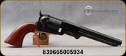 "Taylor's & Co - 36Cal - 1851 Navy Steel Leech & Rigdon - 6-Shot Revolver - Walnut Navy-Size Grips/Case hardened forged steel frame/Engraved Cylinder/Brass backstrap & Triggerguard/Blued, 7.5""confederate style barrel, Mfg# 0003"