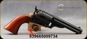 "Taylor's & Co - 45LC - Open Top Revolver - 1851 Navy - Revolver - Walnut Navy-Size Grips/Case hardened forged steel frame/Engraved Cylinder/Brass backstrap & Triggerguard/Blued, 4.75""Round Barrel, Mfg# 9002"