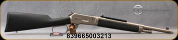 "Taylor's & Co - Chiappa - 45-70Govt - Model 1886 Alaskan Chrome 'Ridge Runner' - Takedown Lever Action Rifle - Black Overmolded Wood Stock/Matte Chrome, 18.5""Threaded 1/2Octagon Barrel, 4 Round Capacity, Mfg# 920.356"