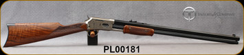 """Taylor's & Co - Pedersoli - 45LC - Lightning Deluxe Rifle - Pump Action - Fancy Walnut/Coin Finish Receiver/Blued, 24""""Octagonal Barrel, Mfg# L921.450, S/N PL00181"""