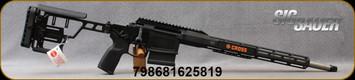 "Sig Sauer - 6.5Creedmoor - Cross Bolt Action Chassis Rifle - Black Folding Precision-Style Stock/Black Anodized Finish, 18""Threaded(5/8-24)Barrel, 1:8""Twist, Mfg# CROSS-65-18B"