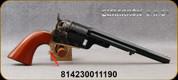 """Cimarron - 38Spl - Model 1851 Richards-Mason - Single Action Revolver - Walnut Grips/Case Hardened Frame/Brass Trigger Guard & Backstrap/Blued Finish, 7.5""""Octagonal Barrel, Mfg# CA925"""