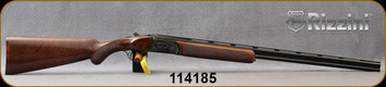 """Rizzini - 410Ga/3""""/28"""" - Aurum Small - Box-lock O/U - Select Turkish Walnut Prince of Wales grip stock w/rounded forend/Case Hardened Game-SceneEngraved Receiver/Blued, Vent-Rib Barrels, Auto Ejectors, Single Select Trigger, Mfg# 141551, S/N 114185"""