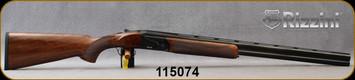 "Rizzini - 12Ga/3""Magnum/28"" - BR110 - Boxlock O/U Break Action Shotgun - Upgraded Turkish Walnut/Black Cerakote Finish, Vent-Rib Barrels, automatic ejectors, single-selective trigger, 5pc Flush-Fit Chokes, S/N 115074"