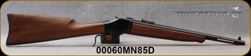 """Winchester - 45-70Govt - Model 1885 High Wall Trapper Limited Series - Lever Action - Satin-Finish Walnut Stock/Blued, 16.5""""Barrel, Ladder Style Adjustable Rear Sight, Mfg# 534146142, S/N 00060MN85D"""