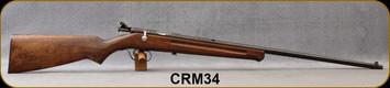 "Consign - Ranger - 22S/L/LR - Model 34 - Single Shot Bolt Action Rimfire Rifle - Wood Stock/Blued, 24""Barrel"