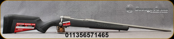 """Savage - 280AI - Model 110 Storm - Bolt Action Rifle - AccuFit Gray Stock/Stainless Steel, 22""""Stainless Steel Barrel, 4 Round Detachable Magazine, Mfg# 57146"""