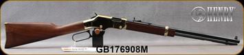 "Henry - 22WMR - Golden Boy - Lever Action Rifle Rimfire - Walnut Stock/Brasslite Receiver/Blued Finish, 20.5""Octagon Barrel, 12 Round capacity, Semi-Buckhorn Rear Sight, Mfg# H004M, S/N GB176908M"