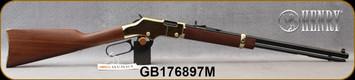 "Henry - 22WMR - Golden Boy - Lever Action Rifle Rimfire - Walnut Stock/Brasslite Receiver/Blued Finish, 20.5""Octagon Barrel, 12 Round capacity, Semi-Buckhorn Rear Sight, Mfg# H004M, S/N GB176897M"