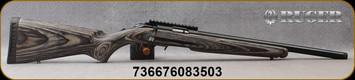 "Ruger - 17HMR - Ruger American Rimfire Target - Bolt Action Rifle - Black Laminate Stock/Blued Finish, 18""Threaded 1/2""x28 Heavy Barrel, Mfg# 08350"