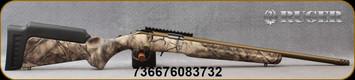 "Ruger - 22WMR - American Rimfire Standard - GO Wild Camo I-M Brush Synthetic Stock/Burnt Bronze Cerakote, 18""Heavy Threaded(1/2""-28)Barrel, flush-mounted JMX-1, 10-round rotary magazine, Ruger Marksman Adjustable trigger, Mfg# 08373"