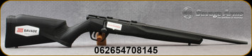 "Savage - 17HMR - Model B17 F Compact - Bolt Action Rimfire Rifle - Black Synthetic Stock/Black Finish, 18""Barrel, 10 Round Detachable Magazine, Mfg# 70814"