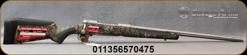 """Savage - 375Ruger - Model 110 Bear Hunter - Bolt Action Rifle - MOBUC Camo Synthetic Adjustable AccuFit AccuStock/Matte Stainless Finish, 23"""" Barrel, 2 Round Hinged Floowplate, Mfg# 57047"""