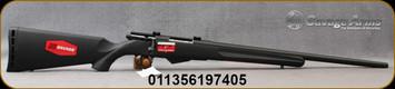 "Savage - 17Hornet - Model 25 Walking Varminter - Bolt Action Rifle - Black Synthetic Stock/Matte Blued Finish, 22""Barrel, 4 Round Detachable Magazine, Mfg# 19740"