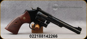 """Smith & Wesson - 22WMR - Model 48-7 Classic - Single/Double Action - 6-Shot Revolver - Wood Grips/Blued Finish, 6""""Barrel - Mfg# 150718"""